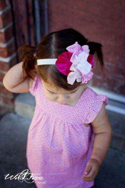 Pink Ruffle Sleeve Baby and Girls Dress