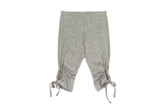 Gray Marle Girls Short Summer Tie Leggings (Organic Cotton)
