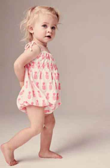 Pima Cotton Pink Pineapple Baby Girls Bubble - ONLY THREE LEFT!