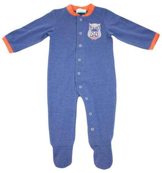 Blue Owl Long Sleeve Baby Boy Footie Romper and Pajamas (Organic Cotton and Bamboo)