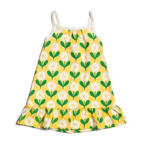 Daisy Spaghetti Strap Baby Girl Dress (American Made and Organic Cotton)
