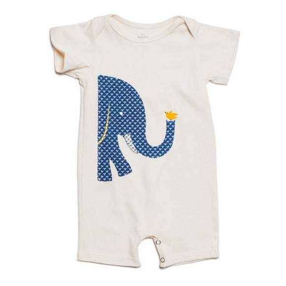 Big & Small Short Sleeve Baby Romper & One Piece Pajamas (American Made & Organic Cotton)