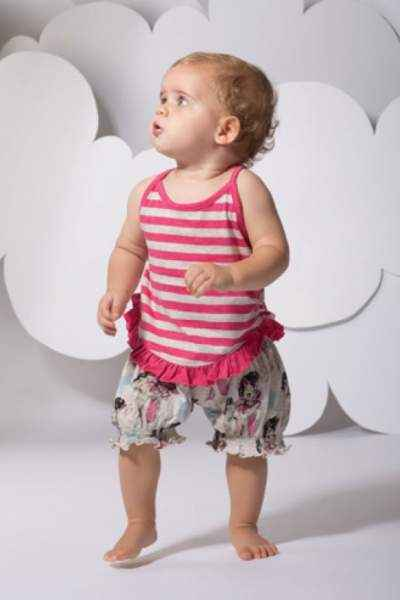 Vintage Horse Print Baby & Toddler Girls Bloomer Shorts (Organic Cotton)