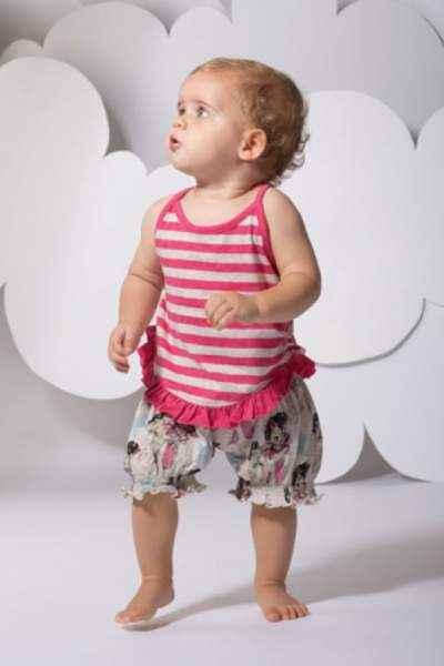 Vintage Horse Print Baby and Toddler Girls Bloomer Shorts (Organic Cotton)