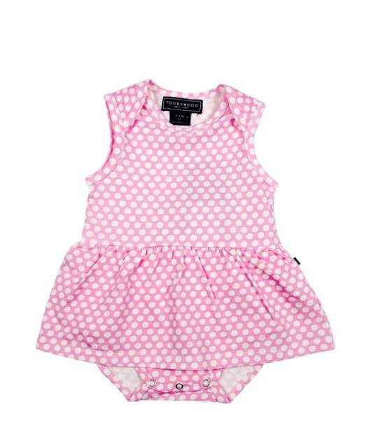 Pink Dot Sleeveless Baby Girl Sundress