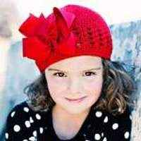 Clo Red Baby Girl Bow Hat