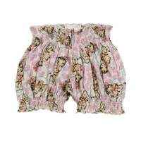 Lollipop Kitty Print Baby and Toddler Girls Bloomer Shorts (Organic Cotton)