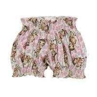 Lollipop Kitty Print Baby and Toddler Girls Bloomer Shorts (Organic Cotton)