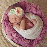 Beatrice Baby and Girls Flower Headband