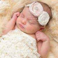 Audrey Baby Girl Silk Flower Headband (American Made)