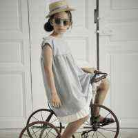 Striped Margaret Girls Dress (American Made)
