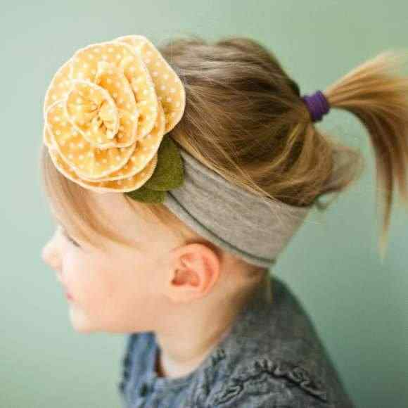 Sunshine Girls Polka Dot Flower Headband (American Made)