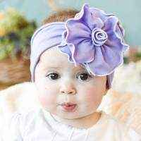 French Lavender Baby Girl Flower Headband (American Made)