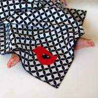 Bird Minky Travel Baby Blanket and Oversized Security Blanket (American Made)