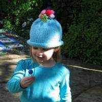 Winkie Soft Knit Baby Girl Flower Bouquet Hat (American Made)