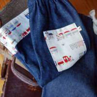 Handmade Train Baby and Boy Jeans
