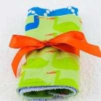 Big Duck Modern Baby Boy Burp Cloth Gift Set (American Made)