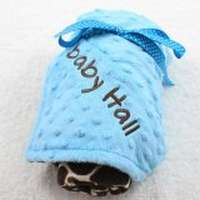 Turquoise Giraffe Minky Baby Boutique Blanket Available Personalized (American Made)