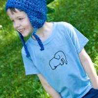 Organic Cotton Elephant Modern Toddler Boy T-Shirt - ONLY FOUR LEFT!