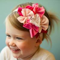 Pink Toddler Girl Baby Handmade Headband