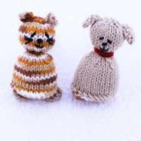 Reversible Dog and Cat Knit Two in One Toy (American Made)
